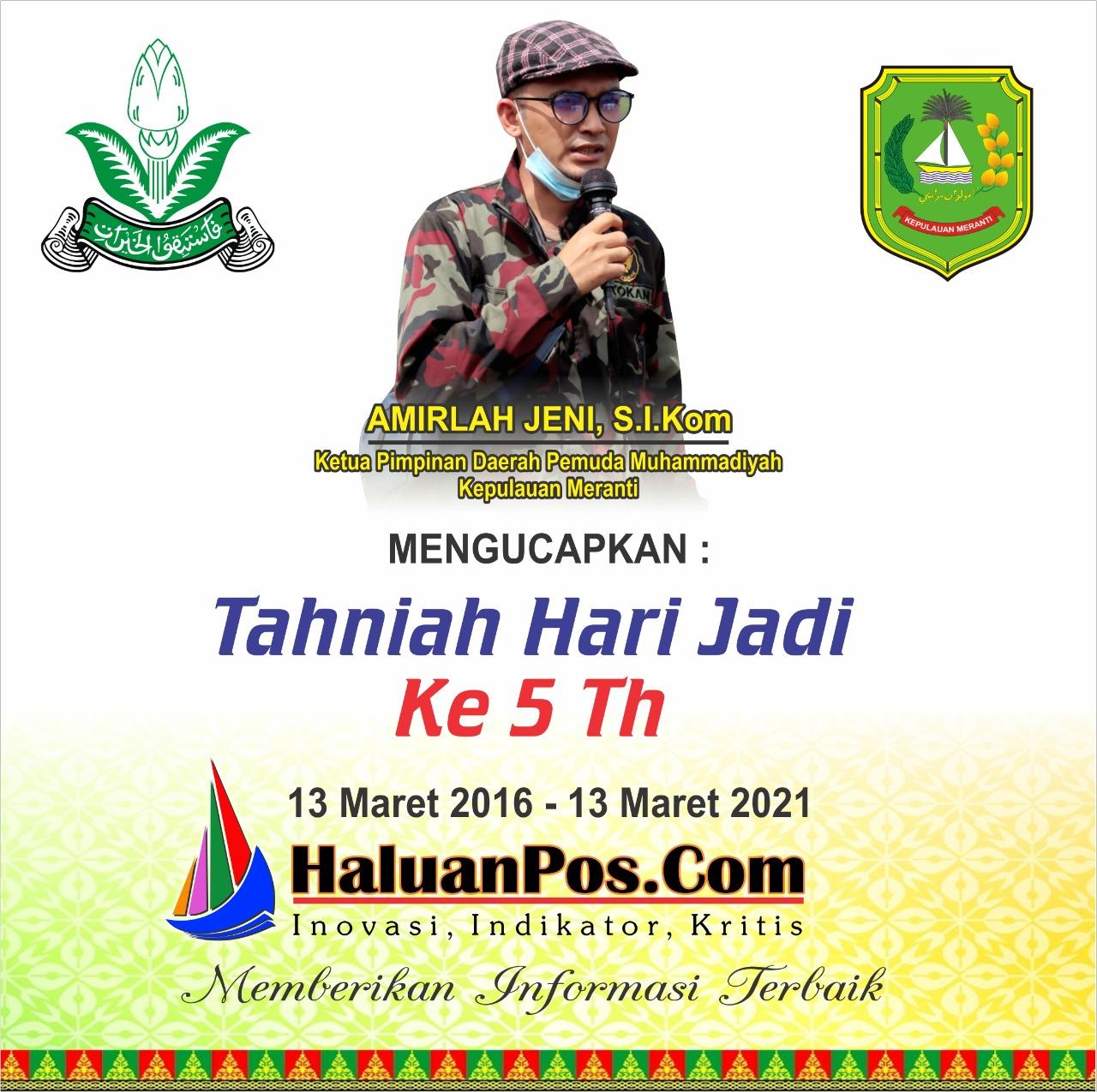 Ucapan HUT dari Ketua Pemuda Muhammadiyah Meranti