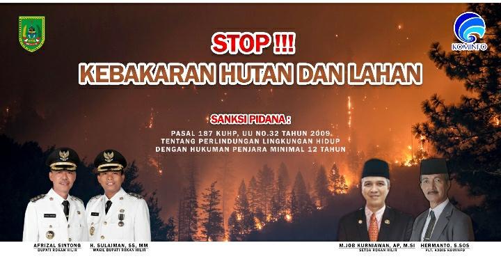 Stop Kebakaran Hutan dan Lahan Pemkab Rohil